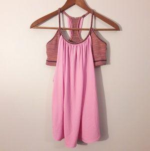 Lululemon Pink and Striped Tank Size 4